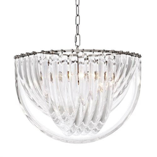 Loop 50cm Wide Glass Chandelier