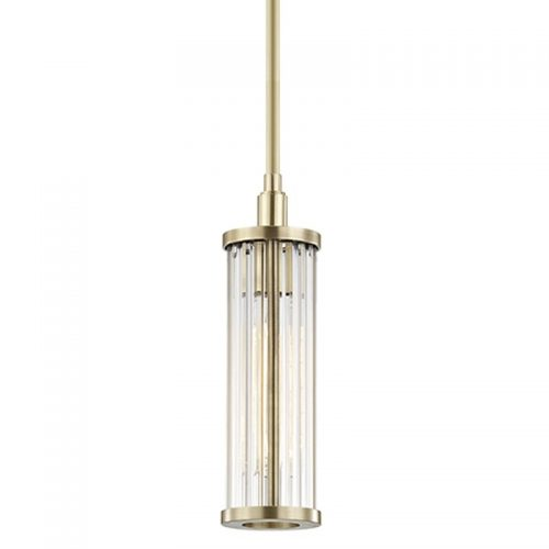 Marley 1 Light Pendant in Aged Brass