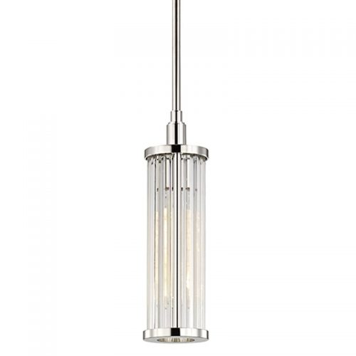 Marley 1 Light Pendant in Polished Nickel