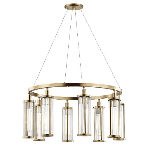 Marley 8 Light Pendant in Aged Brass