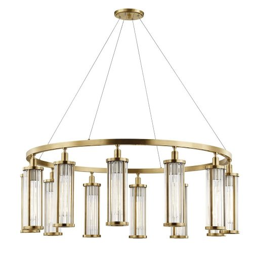 Marley 12 Light Pendant in Aged Brass