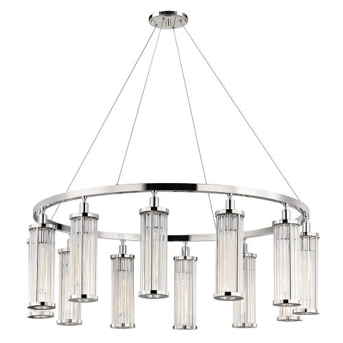 Marley 12 Light Pendant in Polished Nickel