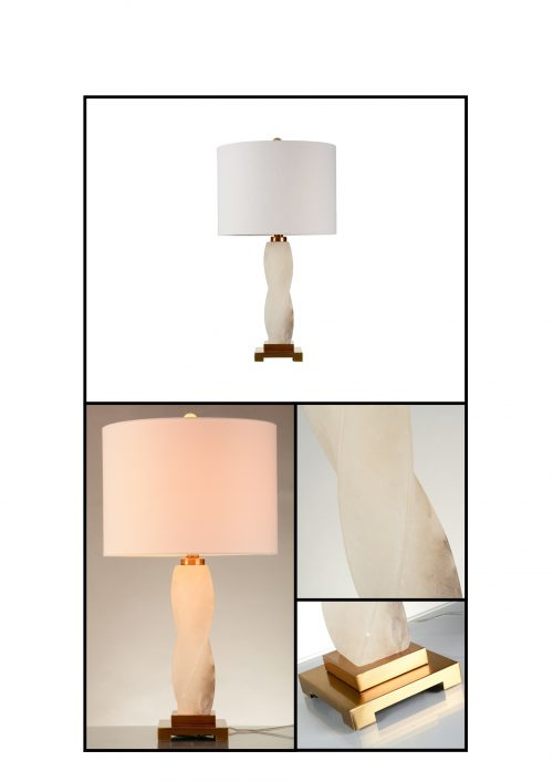 Claudia Alabaster Table Lamp with Shade