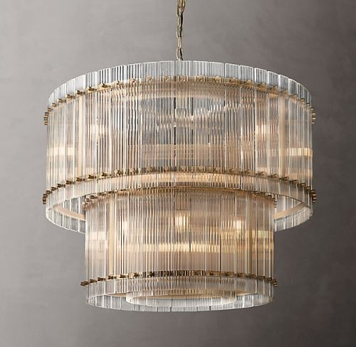 Cyrus 2 Tier 94cm Chandelier in Antique Brass