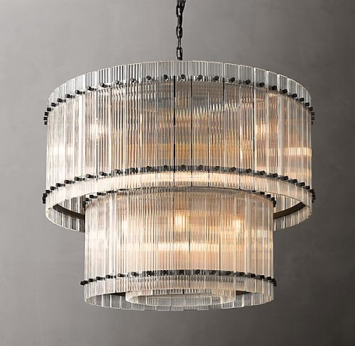 Cyrus 2 Tier 94cm Chandelier in Bronze