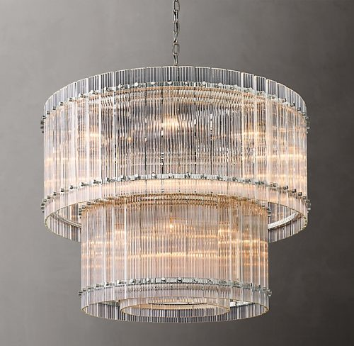 Cyrus 2 Tier 94cm Chandelier in Polished Nickel