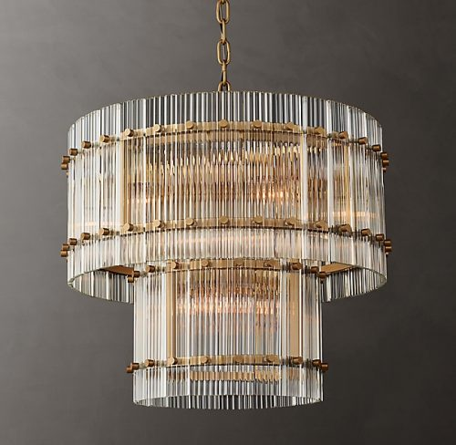 Cyrus 2 Tier 60cm Chandelier in Antique Brass
