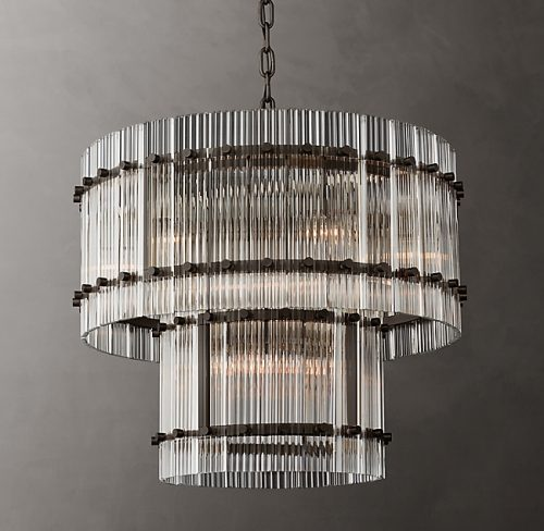 Cyrus 2 Tier 60cm Chandelier in Bronze