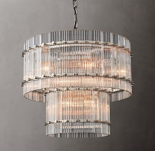 Cyrus 2 Tier 60cm Chandelier in Polished Nickel