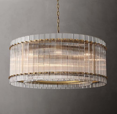 Cyrus 94cm Chandelier in Antique Brass
