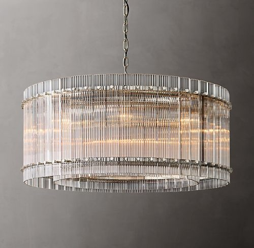 Cyrus 94cm Chandelier in Polished Nickel