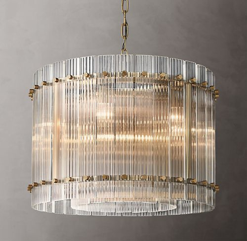 Cyrus 60cm Chandelier in Antique Brass