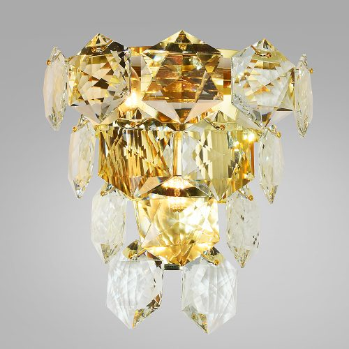 Hexagon Crystal Wall Light