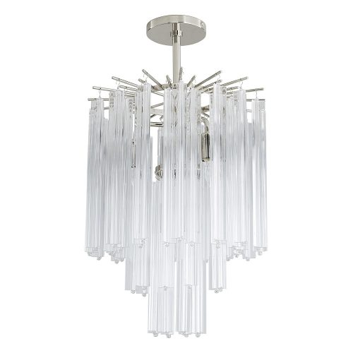 Nessa 102cm Oval Chandelier Polished Nickel
