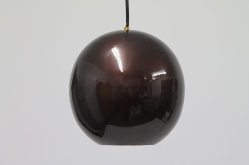 Tamil Small Lacquered Burnished Copper Pendant