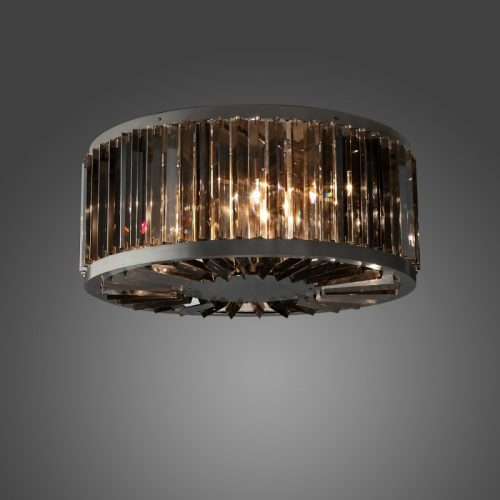 """Welles 28"""" Clear Crystal Ceiling Light"""