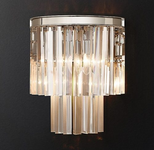 Odeon Crystal Wall Sconce Chrome