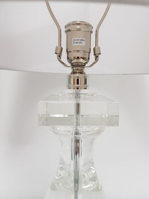 Ardern Table Lamp in Crystal with Linen Shade