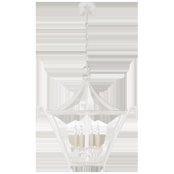 Aria Medium Square Lantern in Plaster White