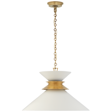 Alborg Small Stacked Pendant in Polished Nickel with Matte White Shade