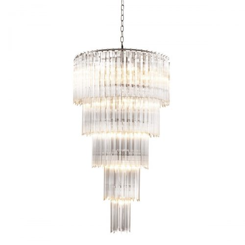 Atticus Spiral 40cm Glass Chandelier