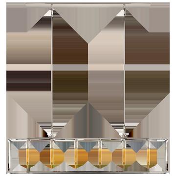 Belden Linear Lantern in Polished Nickel with Clear Glass