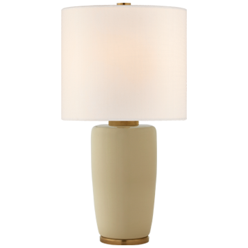 Chado Large Table Lamp in Coconut with Linen Shade