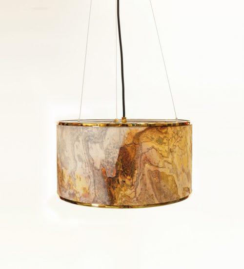 Stonehenge Drum Pendant Light