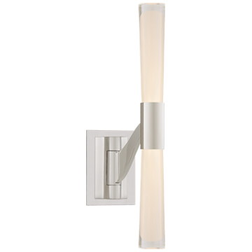 Brenta Single Articulating Sconce in Polished Nickel with Clear Glass