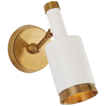 Anders Small Articulating Wall Light in Polished Nickel
