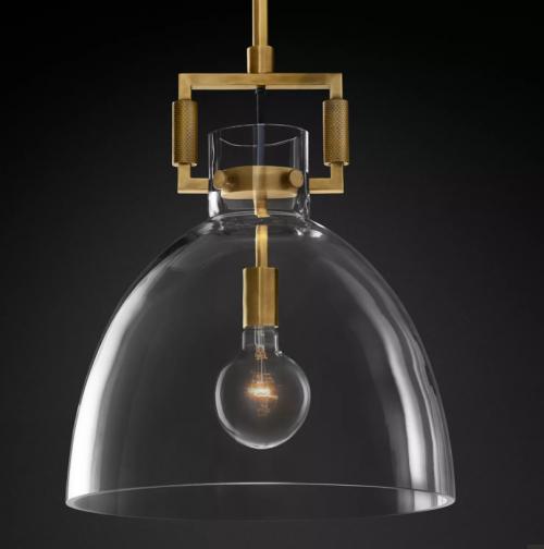 Bell 27cm Glass Pendant Light