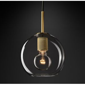 "Diam 8""Glass Ball Pendant Light"