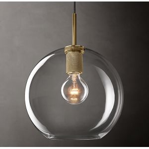 "Diam 11""Glass Ball Pendant Light"
