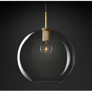 "Diam 14""Glass Ball Pendant Light"