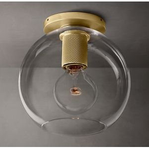 "Diam 8""Glass Ball Flush Mount Light"